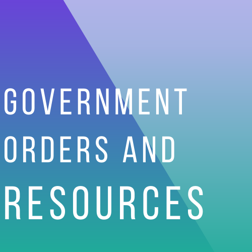 government orders and resources